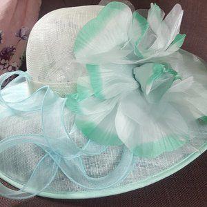 JOSETTE sinamay wide brim flower & loops hat